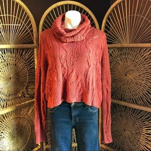 FREE PEOPLE Shades of Dawn Cowl Neck Sweater Med
